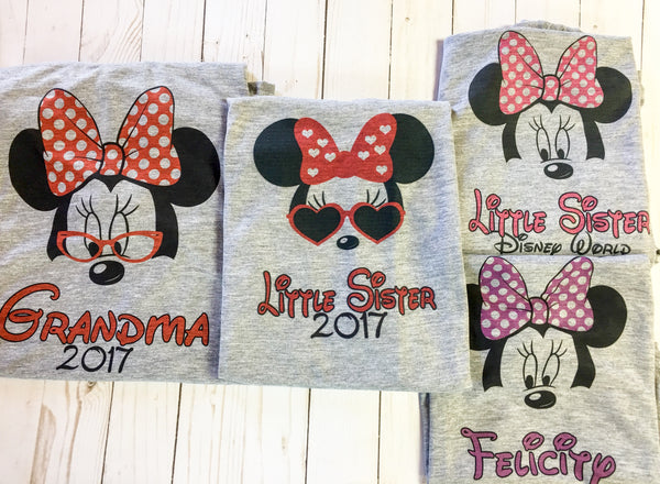 2xl/3xl Mouse Family Disney t-shirts with FREE personalization