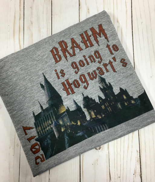 Personalized Going to Hogwart's castle shirt - Harry Potter