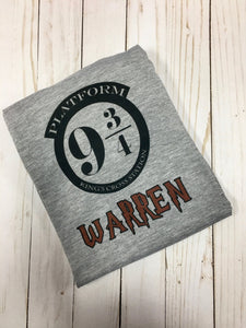 Harry potter shirt - Personalized 9 3/4 shirt