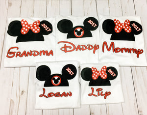 Mickey Minnie Mouse hats with FREE personalization
