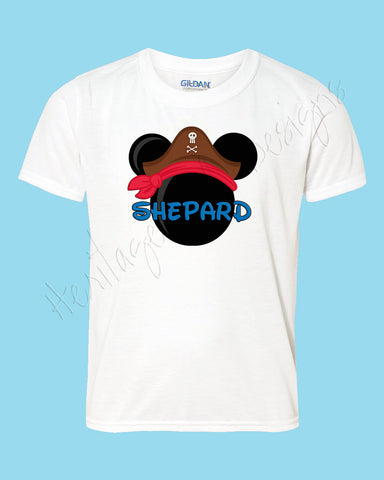 Personalized Pirate Mickey ears icon shirt