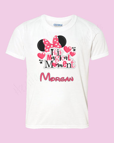 Personalized Minnie Mouse name shirt Icon