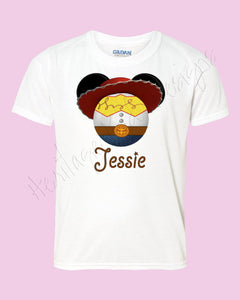 Personalized Jesse mouse ears icon Toy Story shirt