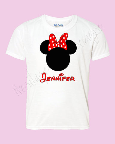 Minnie Mouse ears BIG BOW Disney family shirt - Icon