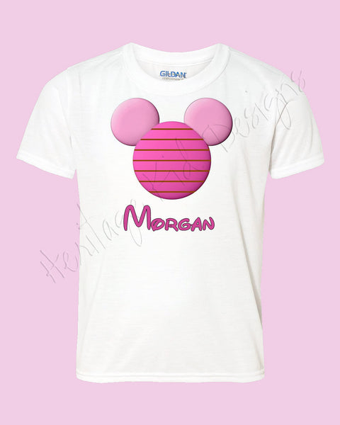 Personalized PIGLET Mouse ears icon shirt