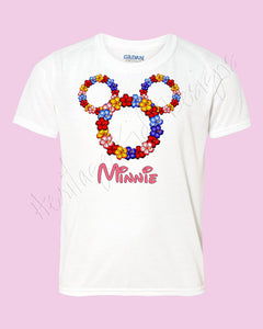 Personalized Aloha Minnie Mouse head icon shirt