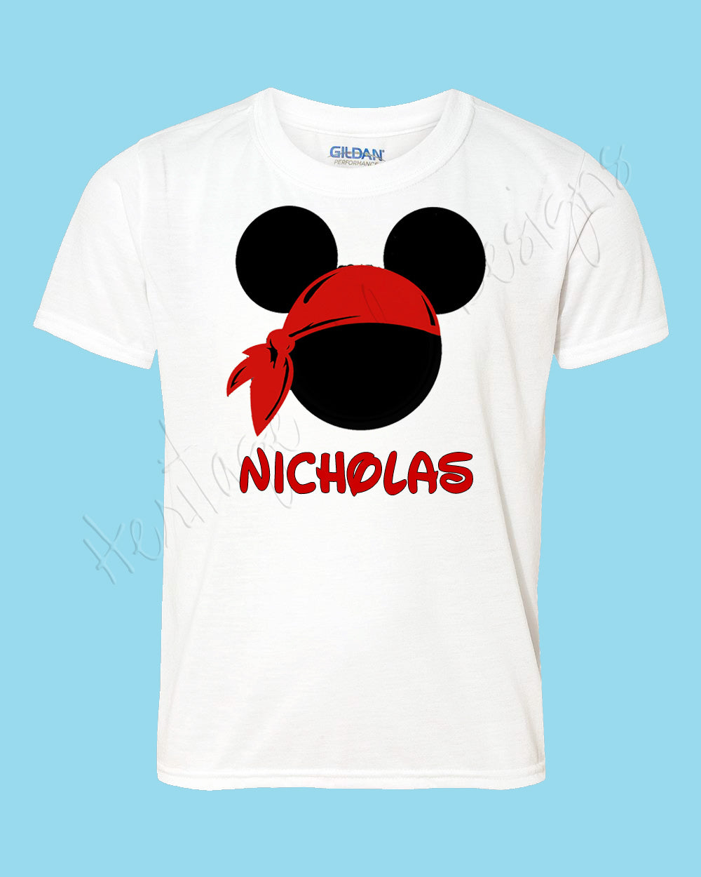 Personalized Mickey Pirate bandanna Disney mouse ears Icon Disney shirt - FREE personalization!