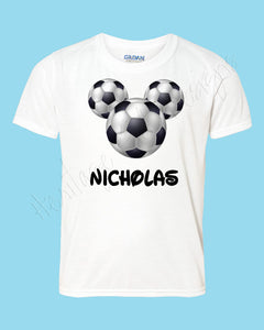 Personalized Mickey Soccer Disney mouse ears Icon Disney shirt - FREE personalization!