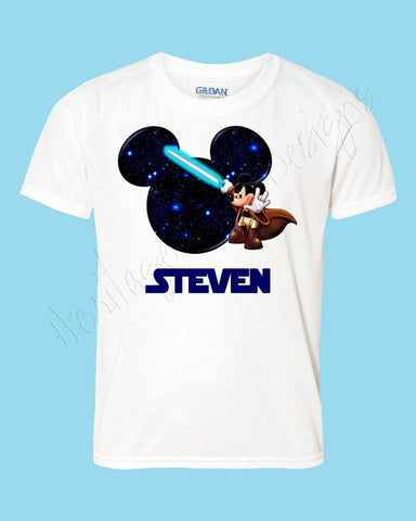Personalized Mickey Star Wars Luke Disney mouse ears Icon Disney shirt - FREE personalization!