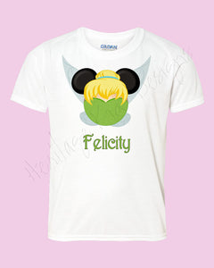 Personalized Minnie TInk Tinkerbell Disney mouse ears Icon Disney shirt - FREE personalization!