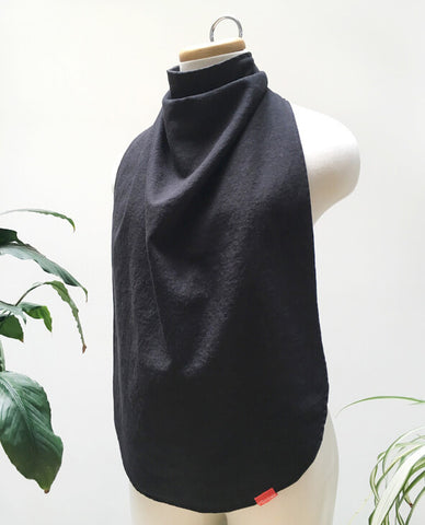 black scarf bib for adults washable waterproof