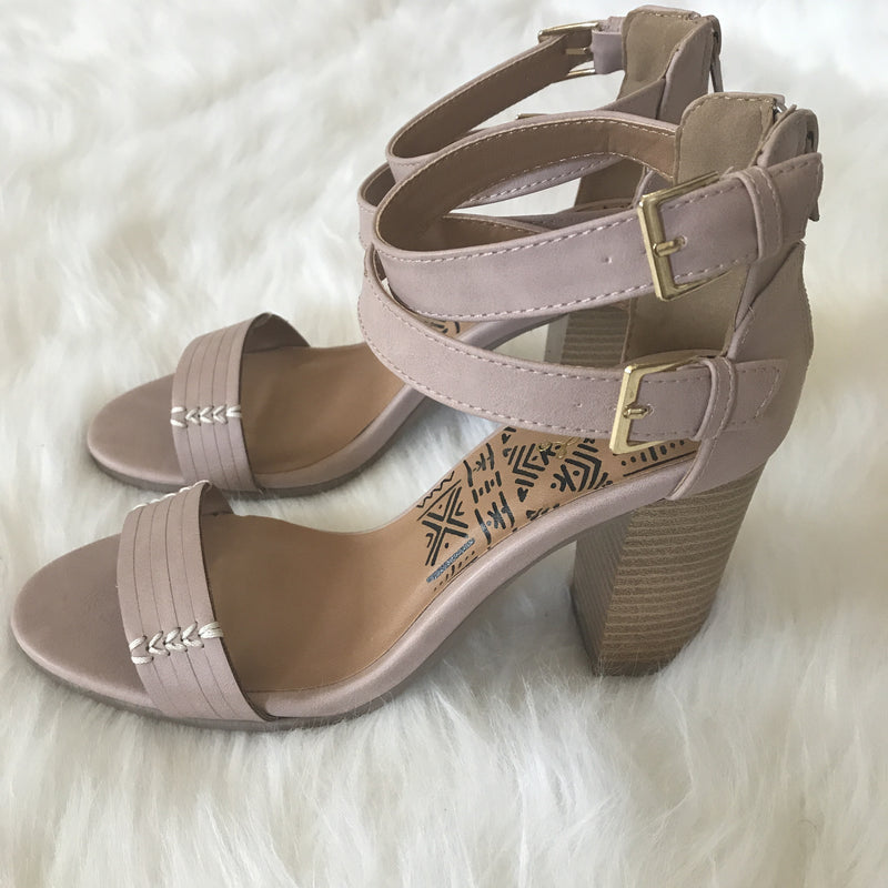 Blush Side Buckle Heels