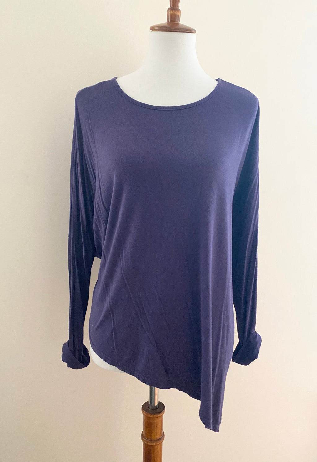 Purple Asymmetrical Hem Top