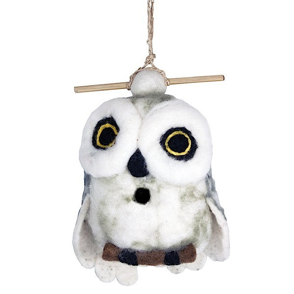 Felt Birdhouse - Snowy Owl - The National Peace Corps Association