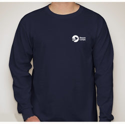 Peace Corps Unisex Long Sleeved Tee in Navy