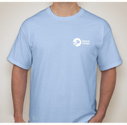 Peace Corps Unisex Tee in Light Blue