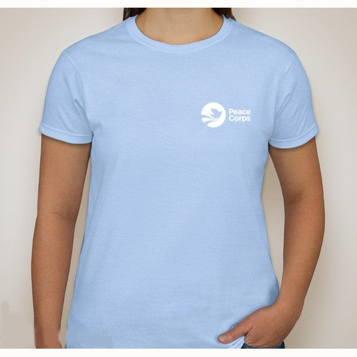 Peace Corps Women's Tee in Light Blue