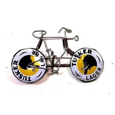 Wire Bicycle Pin with Tusker Wheels - The National Peace Corps Association