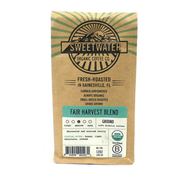 Fair Harvest Blend Organic Coffee 12oz Ground - The National Peace Corps Association