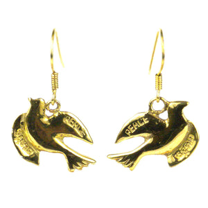 Peace Dove Earrings From Bomb Casings - The National Peace Corps Association