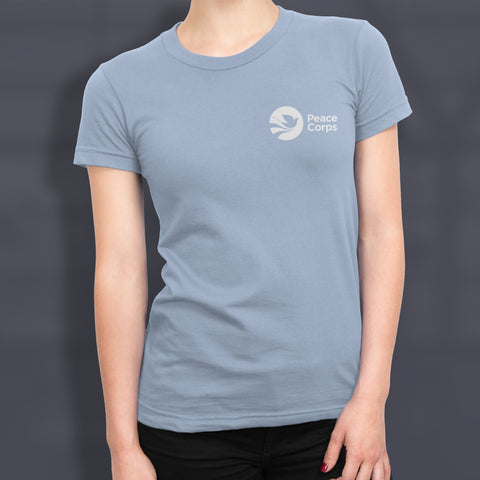 Peace Corps Women's Tee in Light Blue - The National Peace Corps Association