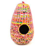 Handmade Recycled Wrapper Bird House in Various Colors