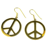 Peace Earrings From Bomb Casings