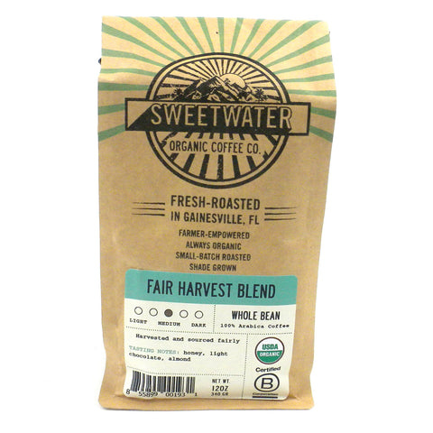 Fair Harvest Blend Organic Coffee 12oz Beans - The National Peace Corps Association