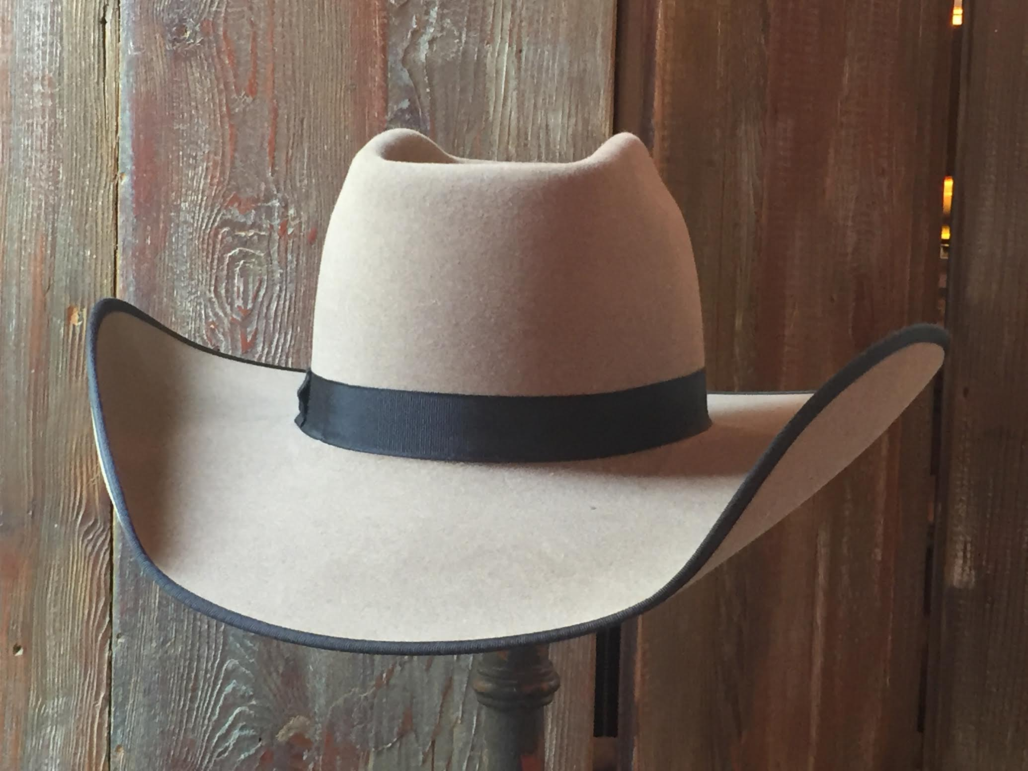 003 - Gray Wide Brimmed Hat