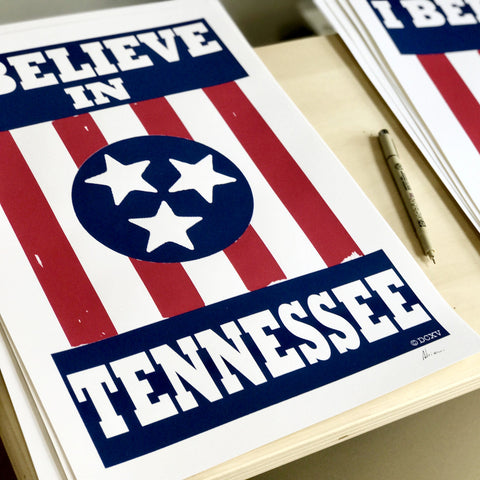I BELIEVE IN TENNESSEE poster (ltd. 1st run, signed)