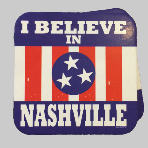 I BELIEVE IN NASHVILLE coaster set
