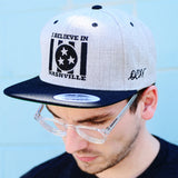 I BELIEVE IN NASHVILLE embroidered snapback