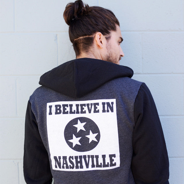I BELIEVE IN NASHVILLE two-tone hoodie