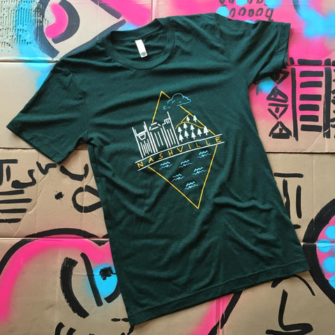 Nashville Diamond - Forest Green t-shirt