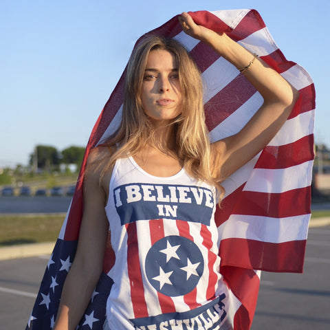 I BELIEVE IN NASHVILLE Original - white tank