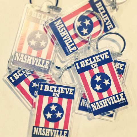 I BELIEVE IN NASHVILLE keychain