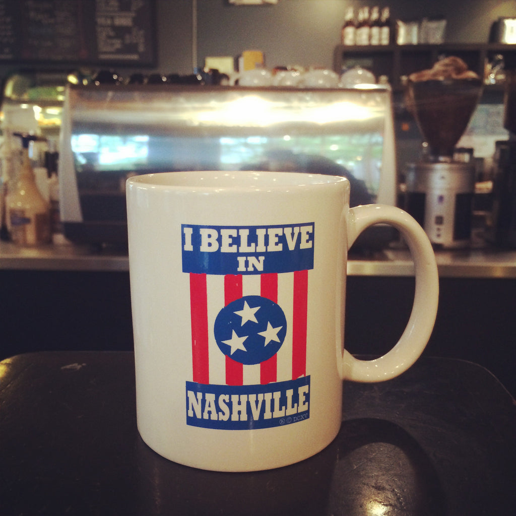I BELIEVE IN NASHVILLE coffee mug
