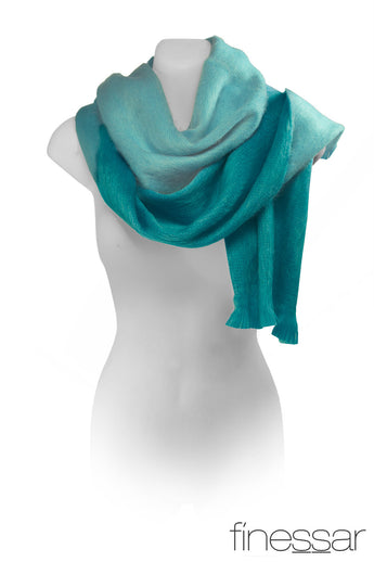 Turquoise/Aqua double sided scarf women.