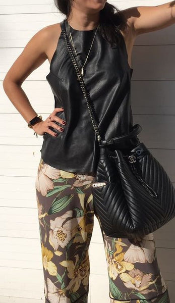 TANK BIANCA LEATHER/SUEDE