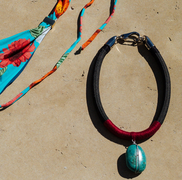 NECKLACE FERNANDA SIMPLE TURQUOISE