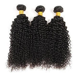 Brazilian-Curly- Human Hair Extensions - 4 Bundles 400g