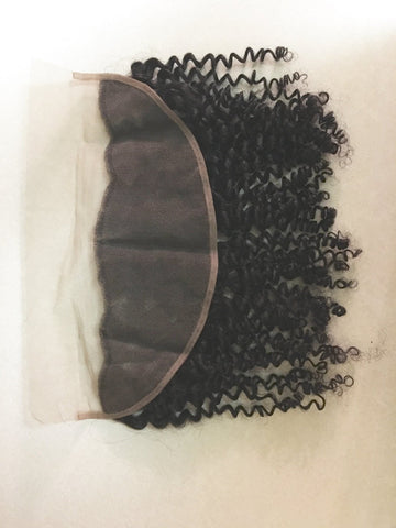 Curly Lace Front Virgin Hair Frontals