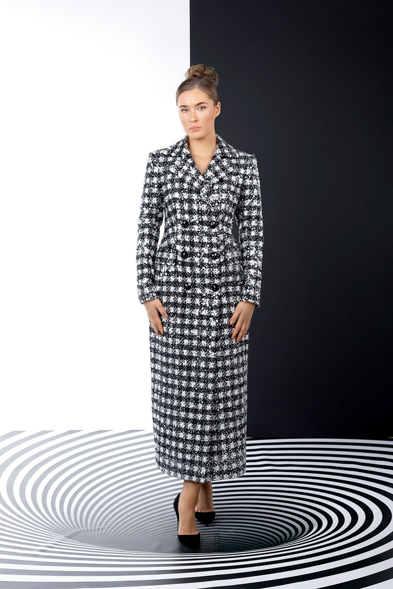 Striped Duality Coat