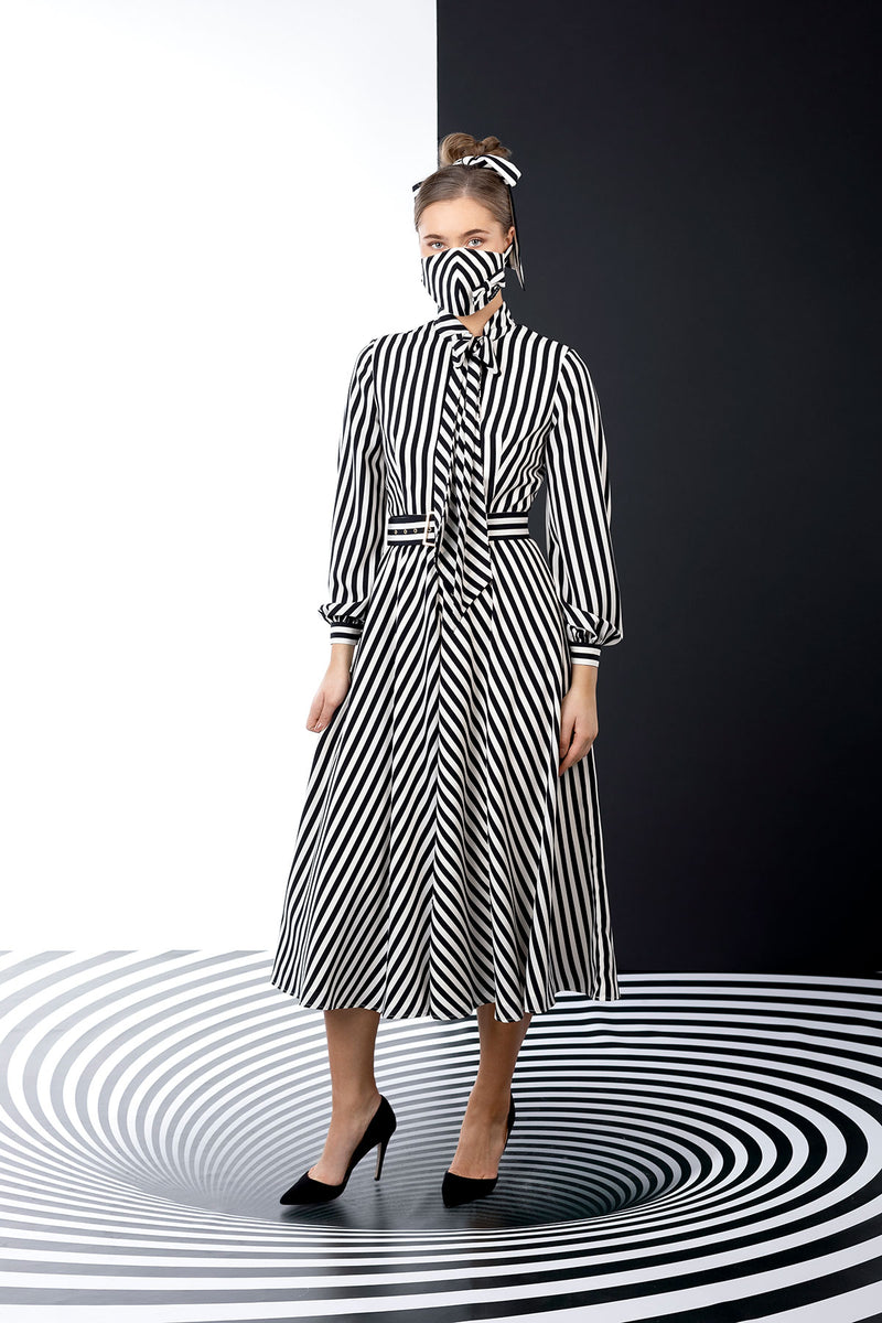Striped Duality Dress