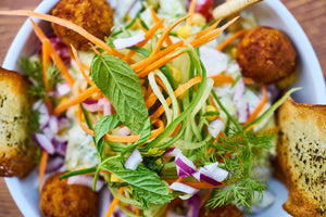 Image - As seen on CTV Morning News: Make Ahead Baked Falafel Salad - Recipes from Well Seasoned