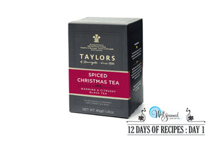 Day 1: 12 Days of Recipes Contest - Christmas Tea & Truffles