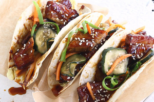 Korean Pork Belly Tacos | Mexican Cuisine | A Well Seasoned Recipe