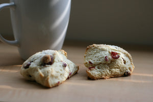 Cranberry Bacon Brunch Scones with Cranberry Pecan Cream Cheese