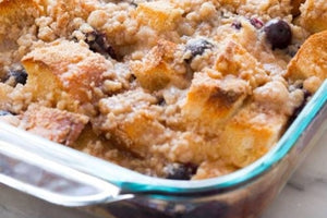 Blueberry French Toast Streusel Bake