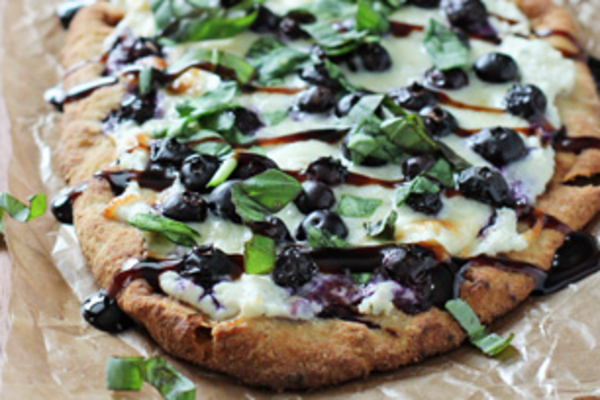 Blueberry Pizza on the BBQ